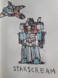 Starscream (Cybertronian mode) by RedFire11