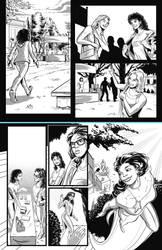 Ricanstruction original B/W page -Paola- by PabloAlcaldeFdez