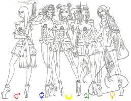 Inner Sailor Senshi Redesign by AngelicHeresy