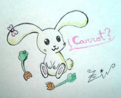 Bunny with carrots by Zivichi