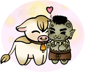 Armengol and Crepe in chibi style by Zivichi