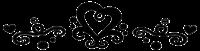 Stylish heart divider by Zivichi