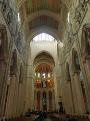 Inside the cathedral of Almudena by Zivichi