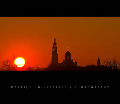 Sunset above the Middelburg by Svision