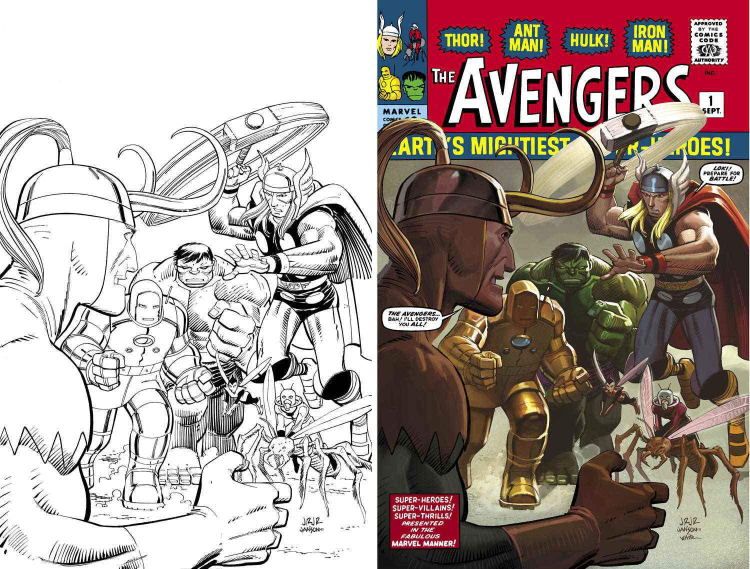 AvengersOmniBus1-BWtoColor by DeanWhite
