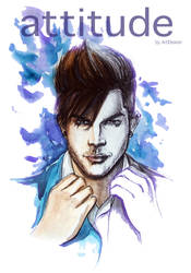 November Attitude with Adam Lambert by ArtEleanor