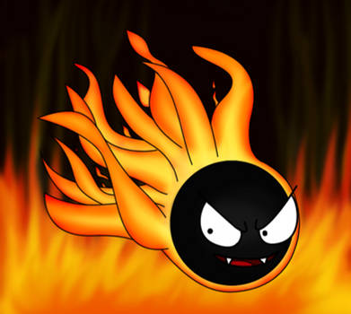 Ion the Flaming Gastly by ZedtheWeavile