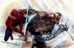 Spider-Man Vs. Venom by Twynsunz
