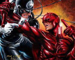 Daredevil Vs. Bullseye MU2011 AP by Twynsunz