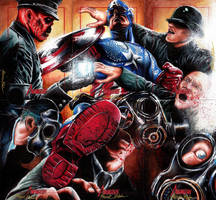 Captain America Sketch Card Puzzle by Twynsunz