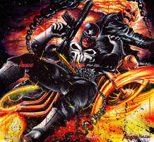 The Punisher VS Ghost Rider Puzzle by Twynsunz