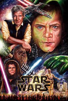 New Star Wars Trilogy Poster by Glebe by Twynsunz