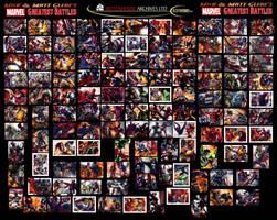 Glebe Marvel's Greatest Battles Puzzle Sketch Card by Twynsunz
