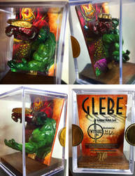 Glebe Hulkbuster Sculpted Sketch Card by Twynsunz