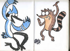 Mordecai and Rigby by jmdoodle