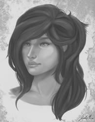 Portrait Study by Sylphire616