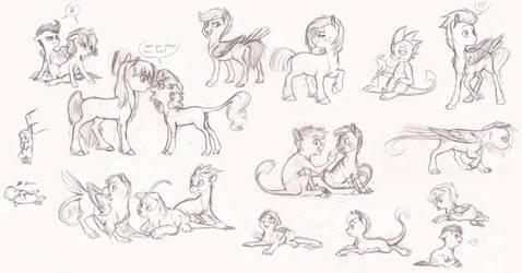 MLP- Foal Sketchdump by Earthsong9405