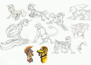 MLP Sketchdump- Armor by Earthsong9405