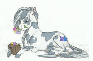 Commish- Picking Flowers by Earthsong9405