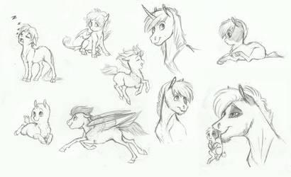 MLP- Foal Sketchdump 2 by Earthsong9405