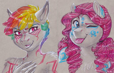 Rainbow Dash and Pinkie Pie by Earthsong9405