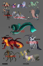 MLP Halloween Adoptables: CLOSED by Earthsong9405