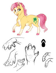 Headcanon: Pony Paws by Earthsong9405