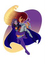 Starfire and Raven by Earthsong9405