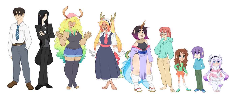 Miss Kobayashi's Dragon Maid (lineup) by Earthsong9405