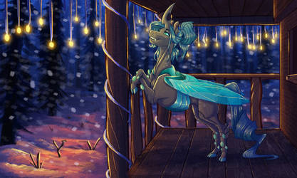 Commission: Quite the cozy winter night by Earthsong9405