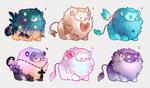 Custom Mini lions set3 [and one flatsale!] by miloudee