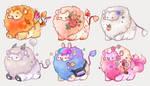 Custom mini lions set5 by miloudee