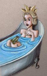 Sleeping Beauty Queen Leah Surprised in Bathtub by SpyroShurtagul