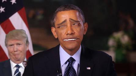 Obama Excalibur Face Trump by finalverdict