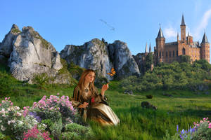 At the foot of the castle by wolfmen-brb