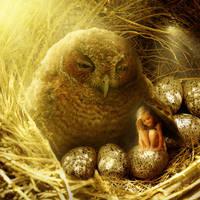 Owl child by tamaraR