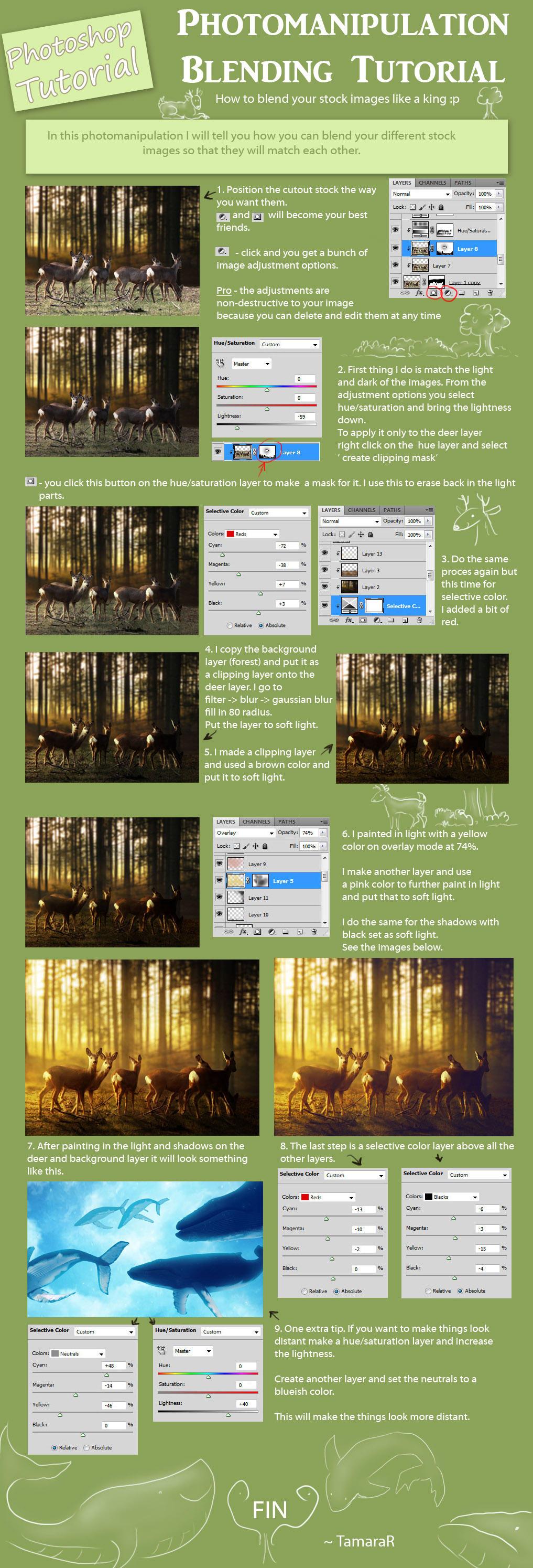 Photomanipulation Tutorial  on blending by tamaraR