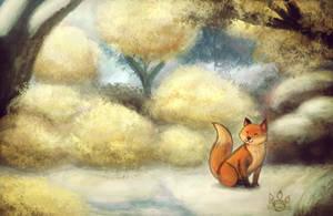 Winter Fox by tamaraR