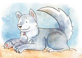Husky pup by tamaraR