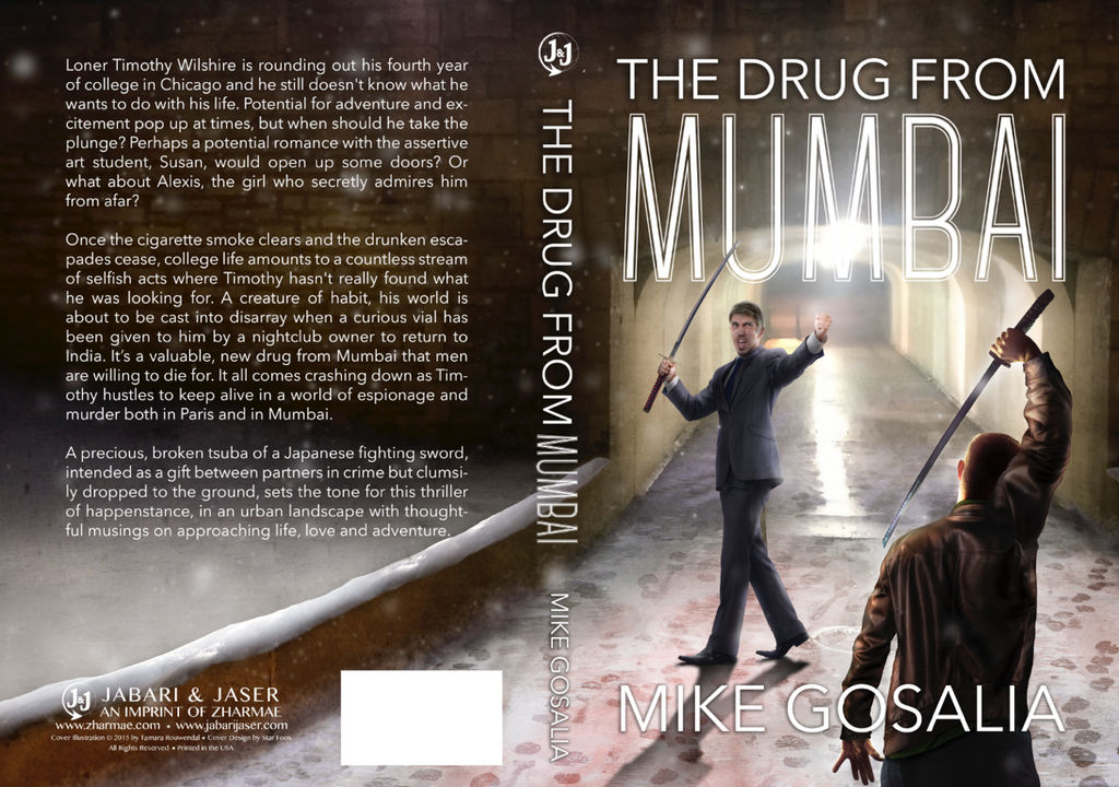 Bookcover - The Drug from Mumbai by tamaraR