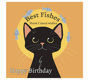 Birthday Black Cat  Best Fishes by tamaraR