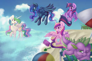 Princesses at the Beach (C) by PartyCannonInc
