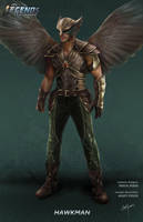 DC's Legends of Tomorrow Hawkman concept art by Artlover67