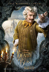 Ewan McGregor as Lumiere in Beauty and the Beast by Artlover67