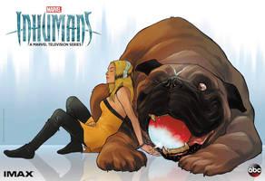 Marvel's Inhumans Crystal and Lockjaw Artwork  by Artlover67