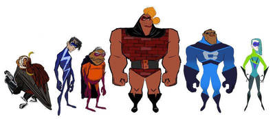 Official Incredibles 2 New Supers Concept Art by Artlover67