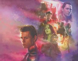 Avengers: Infinity War the Fallen Heroes Art by Artlover67