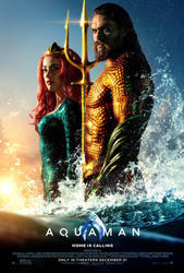 New Aquaman and Mera Poster by Artlover67