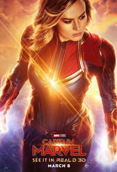 New Captain Marvel RealD 3D Poster by Artlover67