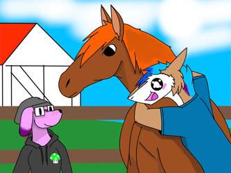She really love horse by Blackruby107